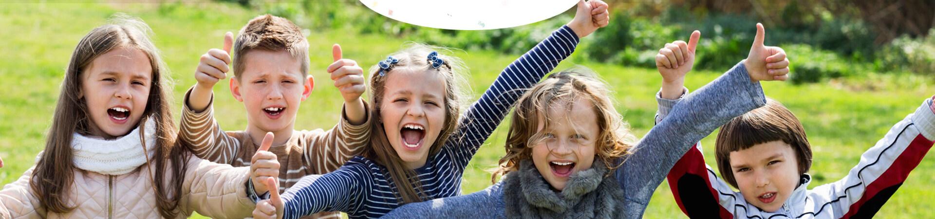 Joyful group of kids